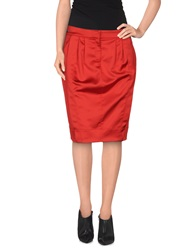 Just Cavalli Knee Length Skirts Red
