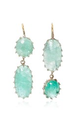 Renee Lewis Antique Emerald Drop Earrings Green