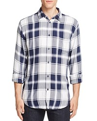 Rails Lennox Plaid Regular Fit Button Down Shirt White Navy Fog