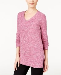 Styleandco. Style Co. Space Dyed Sweatshirt Only At Macy's Magenta Blossom
