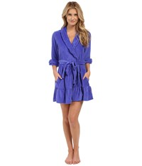 Betsey Johnson Vintage Terry Robe Wild Blue Yonder Women's Robe