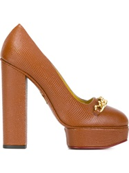 Charlotte Olympia Platform Pumps Yellow And Orange