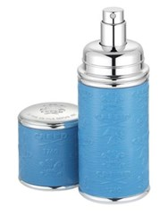 Creed Refillable Leather And Silvertone Pocket Atomizer Blue