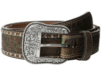 Ariat Embossed Studded Belt Brown Men's Belts