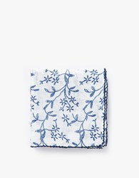 Floral Handkerchief Scarf Light Blue