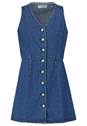 Glamorous Denim Dress Dark Blue Light Blue
