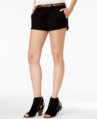 American Rag Cuffed Belted Colored Denim Shorts Only At Macy's Classic Black