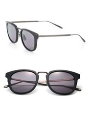 Bottega Veneta 49Mm Soft Rectangular Titanium And Acetate Sunglasses