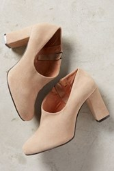 Anthropologie All Black Side Scoop Booties Taupe