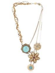 Maria Zureta Turquoise Necklace W Varying Pendants