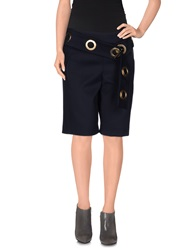 Just Cavalli Knee Length Skirts Dark Blue