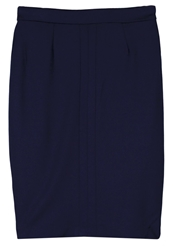 Fever London Joni Pencil Skirt Navy Dark Blue