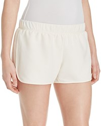 Yummie Tummie Yummie By Heather Thomson Dolphin Hem Shorts Cream