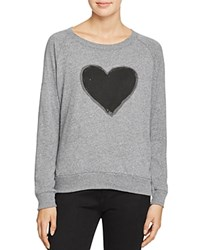 Nation Ltd. Ltd Heart Raglan Sweatshirt 100 Bloomingdale's Exclusive Heather Grey Black
