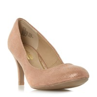 Head Over Heels Annie Round Toe Court Shoes Gold