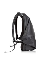 C Te And Ciel Meuse Black Coated Canvas Backpack