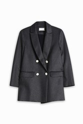 Atea Oceanie Women S X Man Repeller Hepburn Lame Jacket Boutique1 Navy