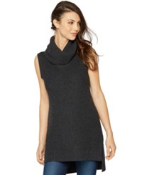 A Pea In The Pod Maternity Sleeveless Turtleneck Sweater Charcoal