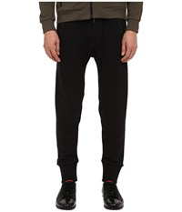 The Kooples Mix Cotton Fleece And Nylon Pants Black