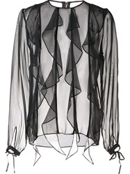 Thomas Wylde Silk 'Enlighten' Blouse Black
