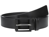 Calvin Klein 35Mm Flat Strap With Matte Powder Coated Harness Buckle And Wood Nose Black Men's Belts