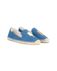 Soludos Denim Espadrille With Ice Lolly Embroidery