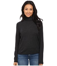 Pendleton Classic Turtleneck Sweater Charcoal Heather Women's Long Sleeve Pullover Gray