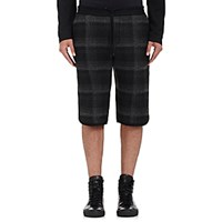 Public School Men's Tryan Plaid Drawstring Waist Shorts Blue