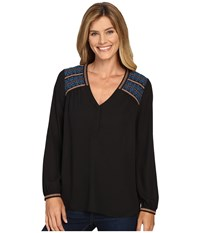 Nydj Embroidered Top Black Women's Clothing