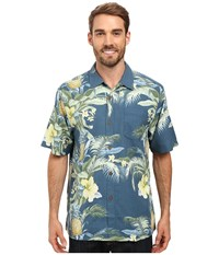 Tommy Bahama Shut The Frond Door Woven Shirt Waterfront Men's Short Sleeve Button Up Black