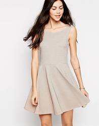 Vero Moda Polka Dot Skater Dress Pink