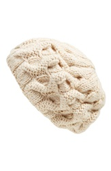 Free People 'Snow Bird' Chunky Knit Beret Ivory