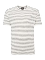 Label Lab Brookes Stripe Tee Off White