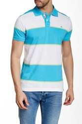 Micros Regular Fit Short Sleeve Polo Blue