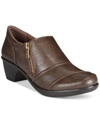 Easy Street Shoes Easy Street Bryson Shooties Women's Shoes Brown Burnished