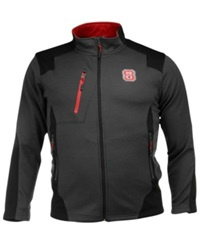 Colosseum Men's North Carolina State Wolfpack Double Coverage Jacket Charcoal