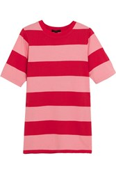 J.Crew Striped Cotton Jersey T Shirt Pink