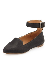 Kelsi Dagger Yelle Leather Ankle Wrap Flat Black