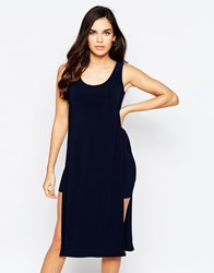 Love Tabard Dress With Cut Out Under Dress Navy