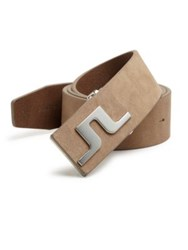 J. Lindeberg Golf Golf Carter Brushed Leather Belt Beige