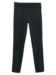 Mango Panel Contrast Leggings Black