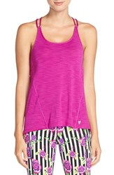 Women's Betsey Johnson Scalloped Space Dye Tank Fun Fuschia