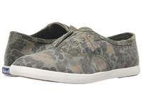 Keds Chillax Ripstop Camo Olive Camo Women's Slip On Shoes Green