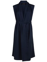 Jaeger Draped Belted City Gilet Navy