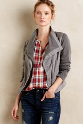 Marrakech Sweaterstitch Moto Jacket Grey
