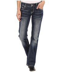 Rock And Roll Cowgirl Low Rise Bootcut In Dark Vintage W0 7362 Dark Vintage Women's Jeans Navy