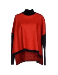Hache Turtlenecks Red