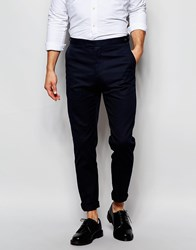 Reiss Pin Dot Trousers In Slim Fit Navy