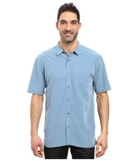 O'neill Ixtapa Woven Shirt Coastal Blue Men's Short Sleeve Button Up