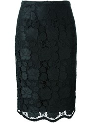 N 21 Nao21 Floral Lace Pencil Skirt Black